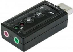 Karta dźwiękowa Manhattan Hi-Speed USB 3D virtual 7.1 z regulacją głośności (151429)