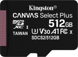 Karta Kingston Canvas Select Plus MicroSD 512 GB Class 10 UHS-I/U3 A1 V30 (SDCS2/512GBSP)
