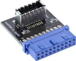 InLine USB 19 pin - USB 20 pin, Czarny (33446B)