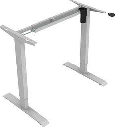 Elektrycznie regulowana podstawa biurka, głębokość 500mm, zasilanie 100V-240V, szary, 70 kg nośność