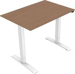 Elektrycznie regulowana podstawa biurka, z blatem, buk, 75x140cm, głębokość 500mm, zasilanie 100V-240V, biały, 70 kg nośność