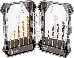 Zestaw wierteł Graphite Zestaw wierteł55H200, 10 wierteł, 3,4,5,6,8 mm do metalu i drewna, Graphite
