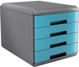 Arda Organizer MyDesk szaro-turkusowy, 4 szuflady szaro niebieski   (18P4PTU)