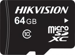 Karta Hikvision HS-TF-L2I MicroSDXC 64 GB Class 10  (HS-TF-L2I/64G)