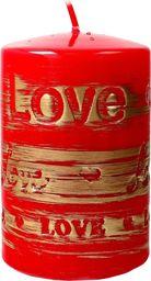 Artman świeca ozdobna Lovely czerwona walec mały 1 sztuka (989062)