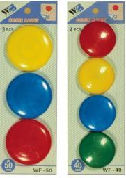 Argo Magnesy do tablic MIX kolorów 40mm 4szt (36K065D)