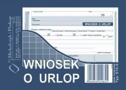 Michalczyk & Prokop Druk Wniosek o udzielenie urlopu, 40kart., M&P  (38K049A)