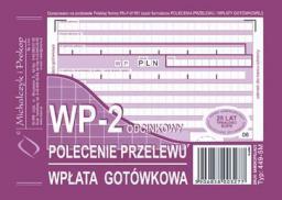 Michalczyk & Prokop Druk Polecenie przelewu wpłata gotówkowa A6, 1+1 kopia, M&P (38K006A)