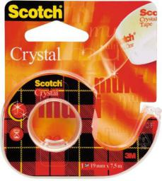 3M Taśma klejąca  Scotch&reg Crystal Clear 19x7.5 mm (13K010A)