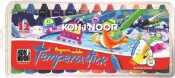 Koh I Noor Kredki woskowe wykręcane Tempera Stick 12 kolorów