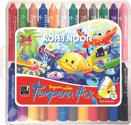 Koh I Noor Kredki woskowe wykręcane Tempera Stick 24 kolory