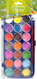 Cricco Farby akwarelowe 21 kolorów CRICCO