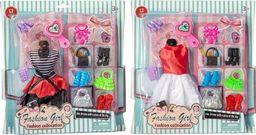 Askato Sukienka dla lalek z akcesoriami mix