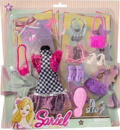 Askato Sukienka dla lalek z akcesoriami