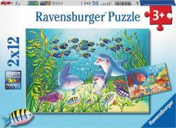 Ravensburger Puzzle 2x12 Na morskim dnie