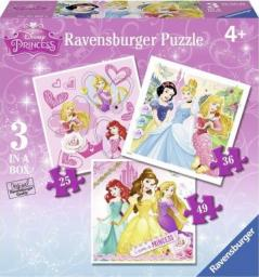 Ravensburger Puzzle 3w1 Księżniczki 25/36/49