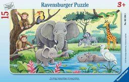 Ravensburger Puzzle 15 Afrykańskie zwierzęta