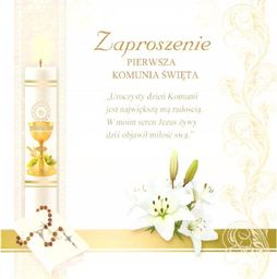 Top Graphic Zaproszenie brokat Komunia (10szt.)