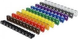 Organizer Delock Delock Kabelmarker Clips 0-9 farbig 100St.