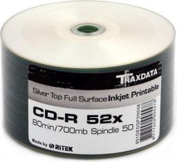 Traxdata CD-R 700MB 52x 50 płyt (nadruk) (901OEDRPSN002)