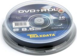 Traxdata DVD+R 8,5 GB 8X DOUBLE LAYER CAKE 10 szt. (906753ITRA003)