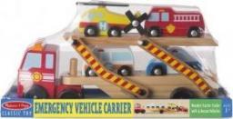 Melissa & Doug MELISSA Laweta drewniana z samochodzikami 14610