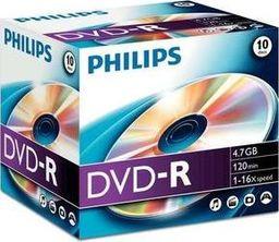 Philips 1x10 Philips DVD-R 4,7GB 16X JC