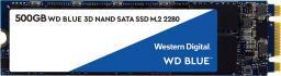 Dysk SSD Western Digital Blue 500 GB M.2 2280 SATA III (WDBK3U5000ANC-WRSN)