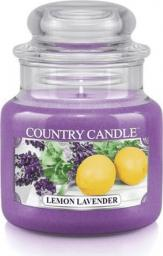 Country Candle mała świeca z dwoma knotami Lemon Lavender 104g (74007)
