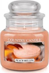 Country Candle mała świeca z dwoma knotami Peach Bellini 104g (846853055459)