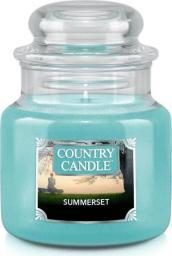 Country Candle mała świeca z dwoma knotami Summerset 104g (74009)