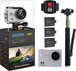 Kamera EKEN KAMERA SPORTOWA EKEN H9R ULTRA HD4K- 3XBATERIA+RC+KIJ | SREBRNA