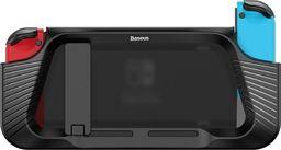 Baseus Baseus SW żelowe elastyczne pancerne tui na Nintendo Switch z wycięciami na pady czarny (WISWGS02-01) uniwersalny