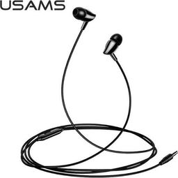 Słuchawki Usams USAMS Słuchawki stereo EP-37 3,5 mm czarny/black HSEP3701