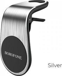 Uchwyt Borofone Borofone - uchwyt samochodowy magnetyczny na kratkę nawiewu, srebrny