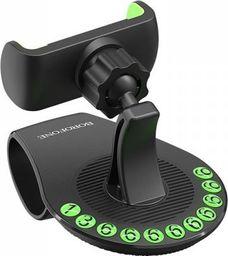 Uchwyt Borofone Borofone - uchwyt samochodowy na kokpit, czarno-zielony
