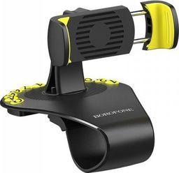 Uchwyt Borofone Borofone - uchwyt samochodowy na kokpit, czarno-żółty