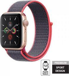 Crong Crong Nylon Band - Pasek sportowy Apple Watch 38/40 mm (Electric Pink)