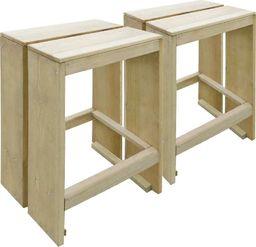 vidaXL ogrodowe stołki barowe, 2 sztuki, impregnowane drewno sosnowe FSC (44911)