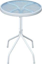 vidaXL stolik bistro, szary, 50x71 cm, stalowy (43313)