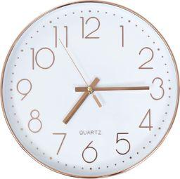 vidaXL zegar ścienny, 30 cm, różowe złoto (50633)