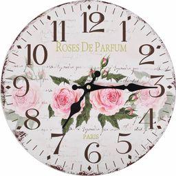 vidaXL zegar ścienny do kuchni, w stylu vintage, kwiat, 30 cm (50625)