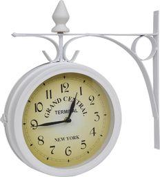 vidaXL Zegar ścienny w stylu retro, dwustronny, biały