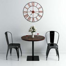 vidaXL zegar ścienny, metal, 58 cm, czerwony (283864)