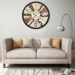 vidaXL zegar ścienny, metal, 60 cm, wielokolorowy