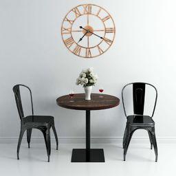 vidaXL zegar ścienny, metal, 40 cm, złoty (283860)