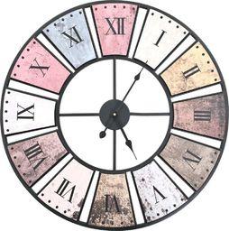 vidaXL zegar ścienny vintage z mechanizmem kwarcowym, 60 cm, XXL