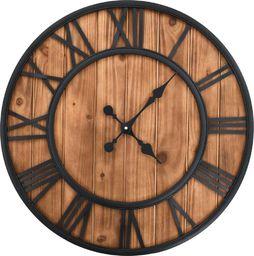 vidaXL zegar z mechanizmem kwarcowym, drewno i metal, 60 cm, XXL
