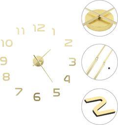 vidaXL zegar ścienny 3D, nowoczesny design, 100 cm, XXL, złoty (50640)