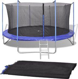 vidaXL Siatka do okrągłej trampoliny 3,66 m, PE, czarna